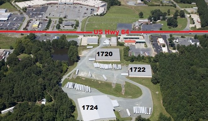 View of all warehouses at 1720,1722,1724 E 11th St Siler City