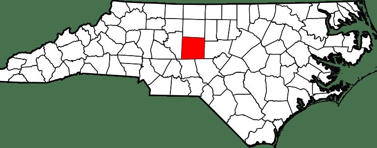 Randolph County Map NC
