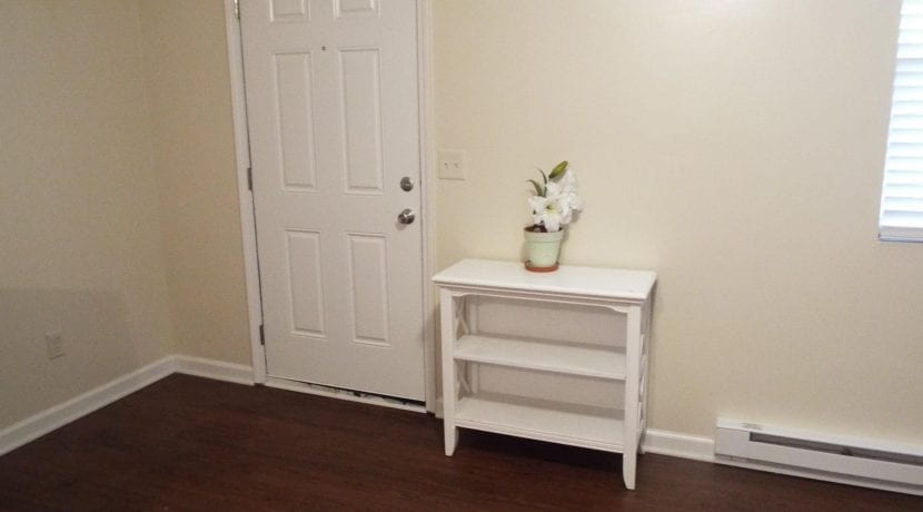 table by door