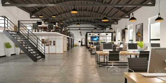 open concept office space