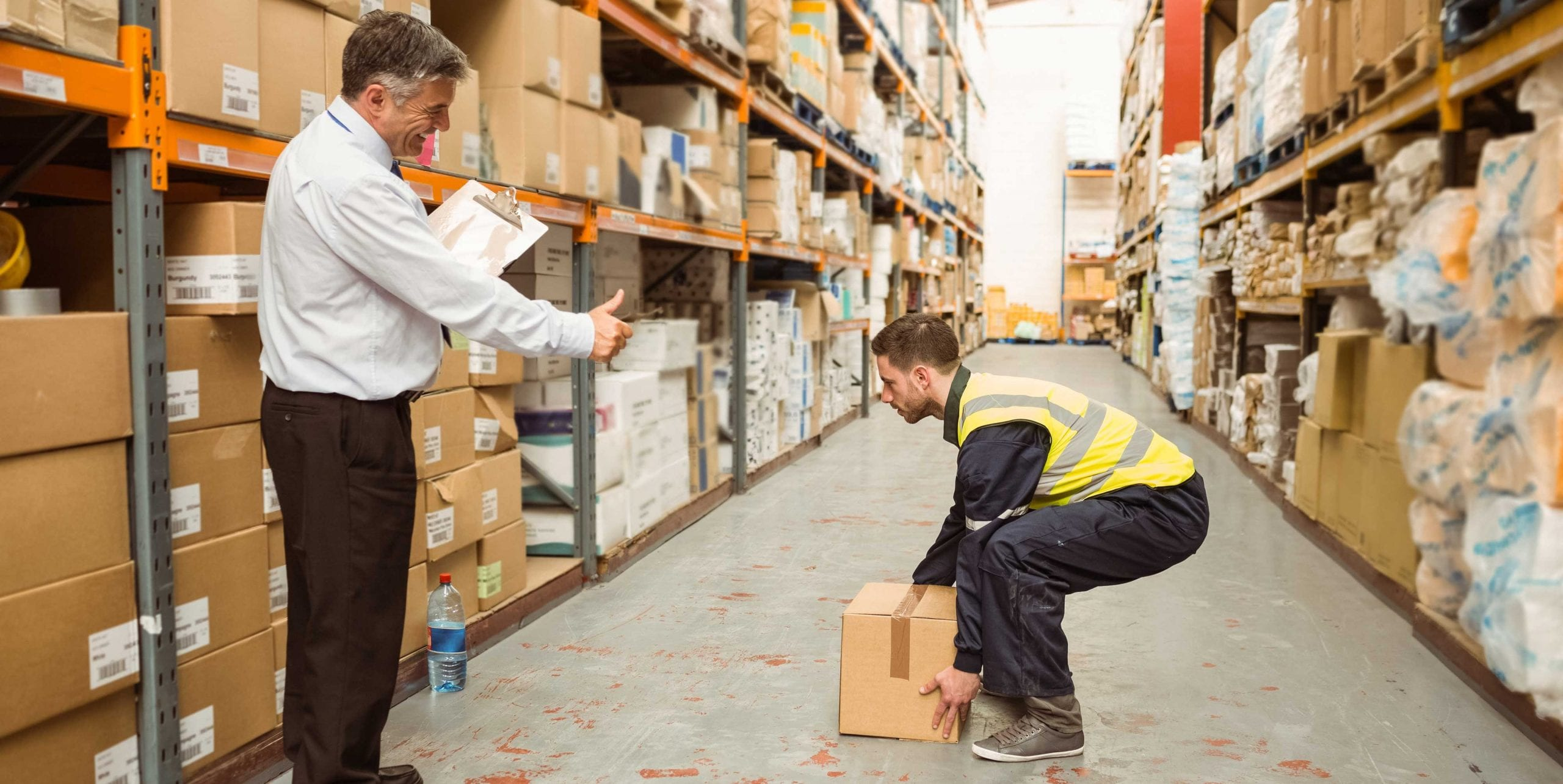 Warehouse safety lifting