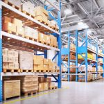 A large space inside a leased warehouse.