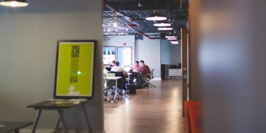 A workspace for multiple employees.